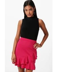 Hot Pink Ruffle Mini Skirt
