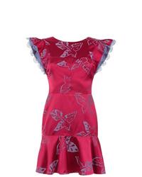 Martha Medeiros Jacquard Short Dress