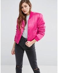 Asos Satin Puffer Jacket