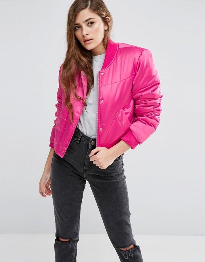 404d6344a $76, Asos Satin Puffer Jacket