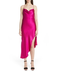 Hot Pink Satin Cami Dress