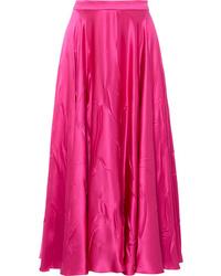 Gucci Satin Midi Skirt