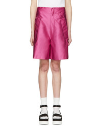 Fuschia satin drop waist shorts medium 1250416