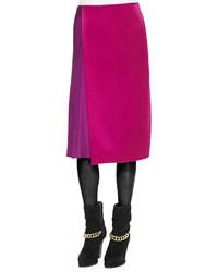 3.1 Phillip Lim Two Tone Draped Midi Skirt