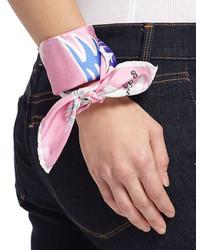 Anna Coroneo Mini Twill Dragons Scarf Pink