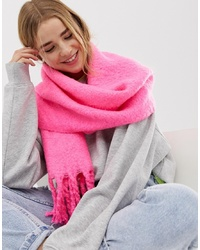 New Look Neon Plain Scarf In Pink