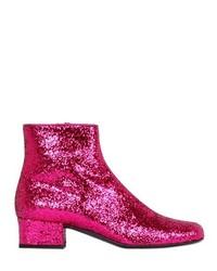 Saint laurent 40mm babies glittered leather ankle boot medium 191004