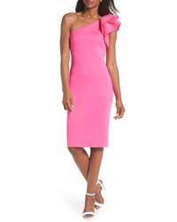 Eliza J One Shoulder Ruffle Sheath Cocktail Dress