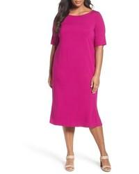 Eileen Fisher Plus Size Jersey Shift Dress