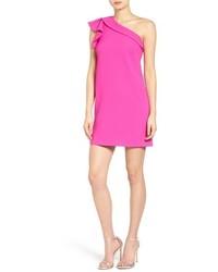 Greylin One Shoulder Shift Dress