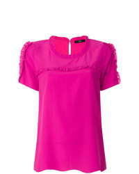 Hot pink short sleeve blouse original 4107014