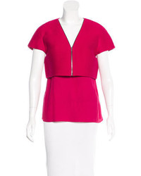 Layered short sleeve top medium 3638490