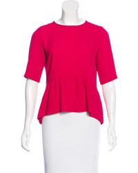 Sandro Short Sleeve Peplum Top
