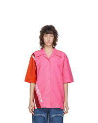 PushBUTTON Pink And Orange Logo Short Sleeve Shirt