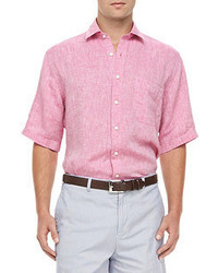 Hot Pink Short Sleeve Shirts for Men | Men's Fashion