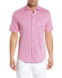 Bugatchi Regular Fit Marl Knit Sport Shirt