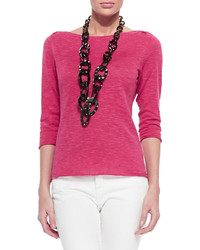 Hot Pink Short Sleeve Sweater