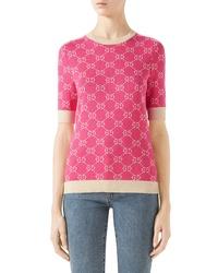 Gucci Gg Jacquard Logo Sweater