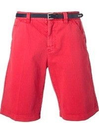 Frankie Morello Belted Chino Shorts