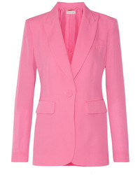 Ro silk crepe de chine blazer pink medium 1152654