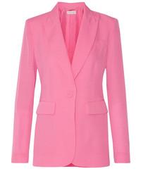 Rachel Zoe Ro Silk Crepe De Chine Blazer Pink