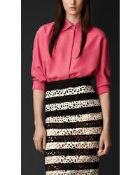 Burberry Oversize Silk Shirt