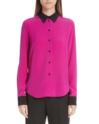 Marc Jacobs Contrast Collar Silk Shirt