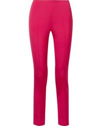 Akris Melissa Stretch Mulberry Silk Slim Leg Pants