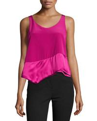 0d8f9c9637b97 ... 3.1 Phillip Lim Layered Asymmetric Silk Tank Pink
