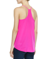 b29cb763d5593 ... Silk Tanks Amanda Uprichard Sleeveless Charmeuse Cricket Top Hot Pink  Amanda Uprichard Sleeveless Charmeuse Cricket Top Hot Pink