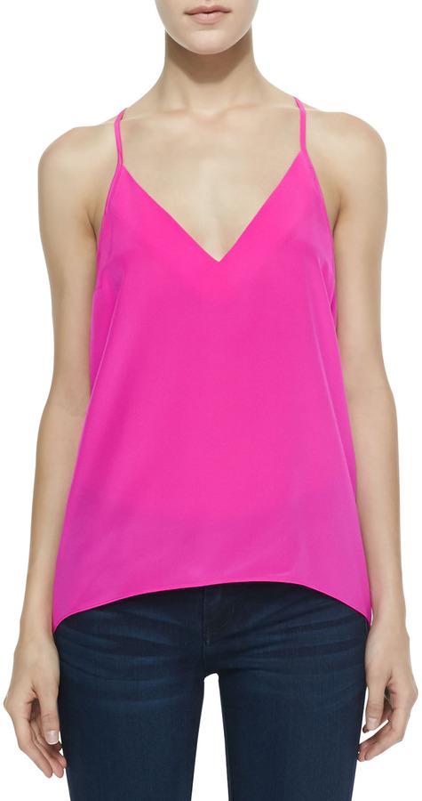 407db15b569fe ... Silk Tanks Amanda Uprichard Sleeveless Charmeuse Cricket Top Hot Pink  ...