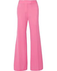 Rachel Zoe Presley Silk Crepe De Chine Wide Leg Pants Pink