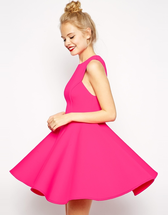 Asos ASOS COLLECTION ASOS Premium Bonded Fit And Flare Dress | Where ...