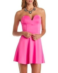 bac890001b4 ... Out of stock · Charlotte Russe Plunging Sweetheart Skater Dress