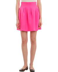 Lisa Perry Pleated Silk Skirt