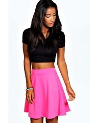 Boohoo Roseanna Colour Pop Skater Skirt