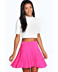Boohoo Selena Jersey Viscose Skater Skirt