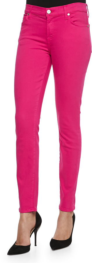 7 For All Mankind Slim Illusion Pdf Brights Skinny Jeans Paradise