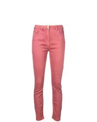 Elisabetta Franchi Glitter Embellished Skinny Jeans