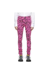 Gucci Pink And Black Zebra Skinny Jeans