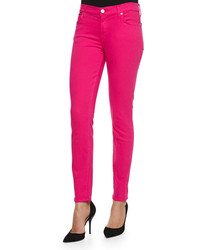 7 For All Mankind Slim Illusion Pdf Brights Skinny Jeans Paradise Pink