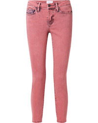 Current/Elliott The Stiletto Cropped Mid Rise Skinny Jeans