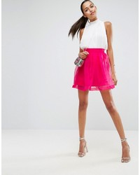 Asos Mini Prom Skirt In Organza