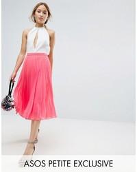 Asos Petite Petite Pleat Midi Skirt