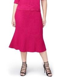 Rachel Roy Rachel Pebble Jacquard Fit Flare Skirt
