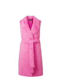 Hot Pink Sleeveless Coat