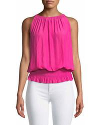 Lauren sleeveless smocked waist top medium 7011197