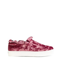 Opening Ceremony Slip On Velvet Sneakers