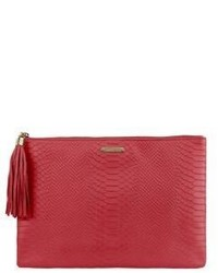 Uber python embossed leather clutch medium 522886