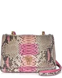 Ghibli Pink Python And Leather Crossbody Bag